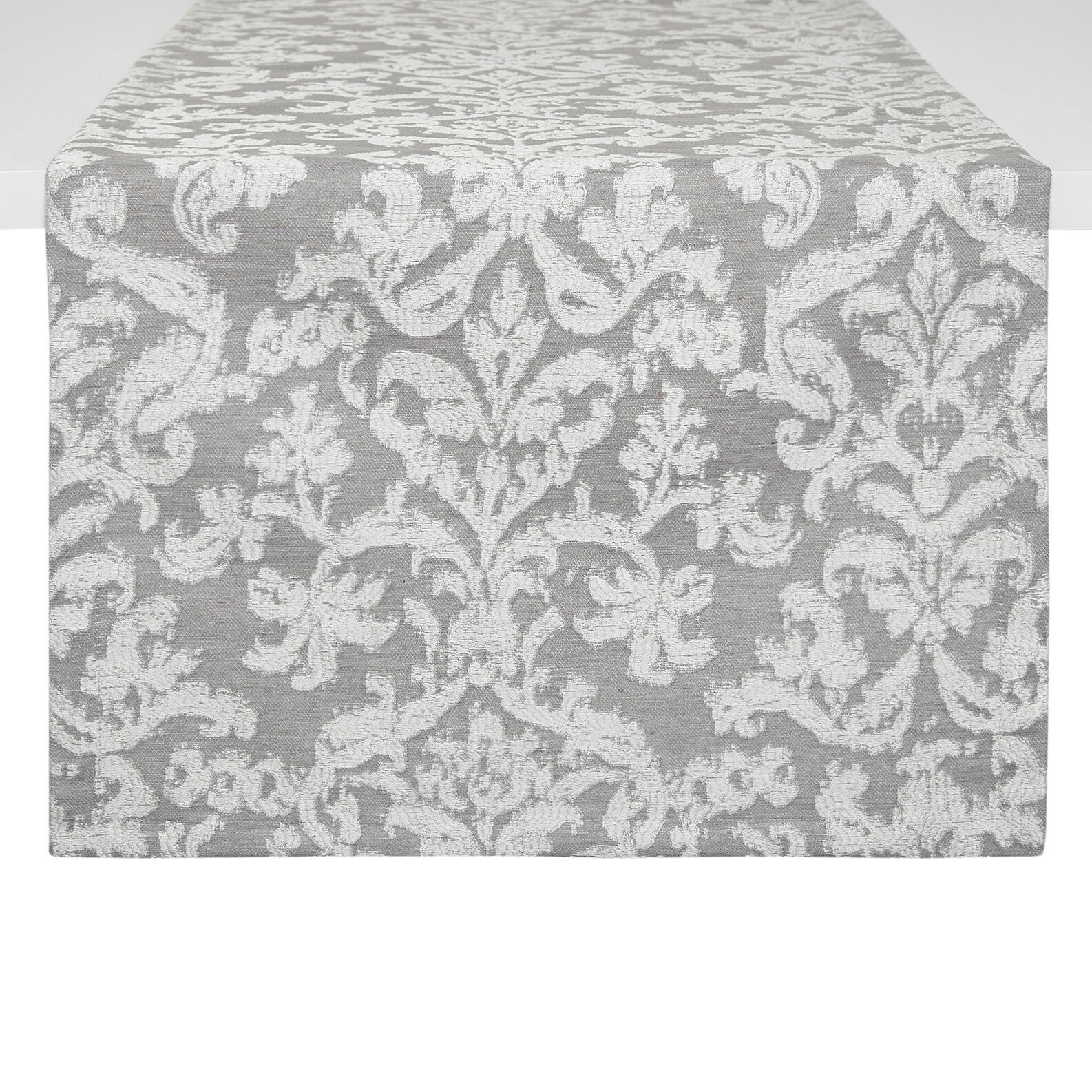 Fabric table runner with jacquard weave