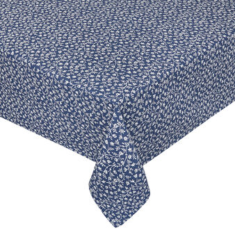 Water-repellent 100% cotton tablecloth with small flowers print