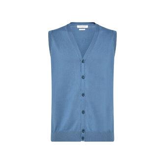 Luca D'Altieri 100% cotton gilet with buttons