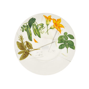 Porcelain plate with vegan La Cucina Italiana decoration
