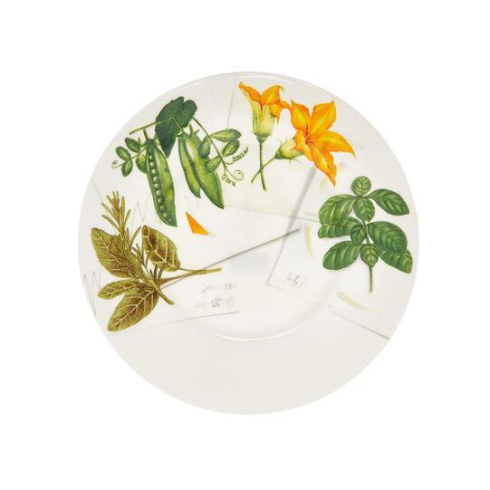 Fine bone china plate with vegan La Cucina Italiana decoration