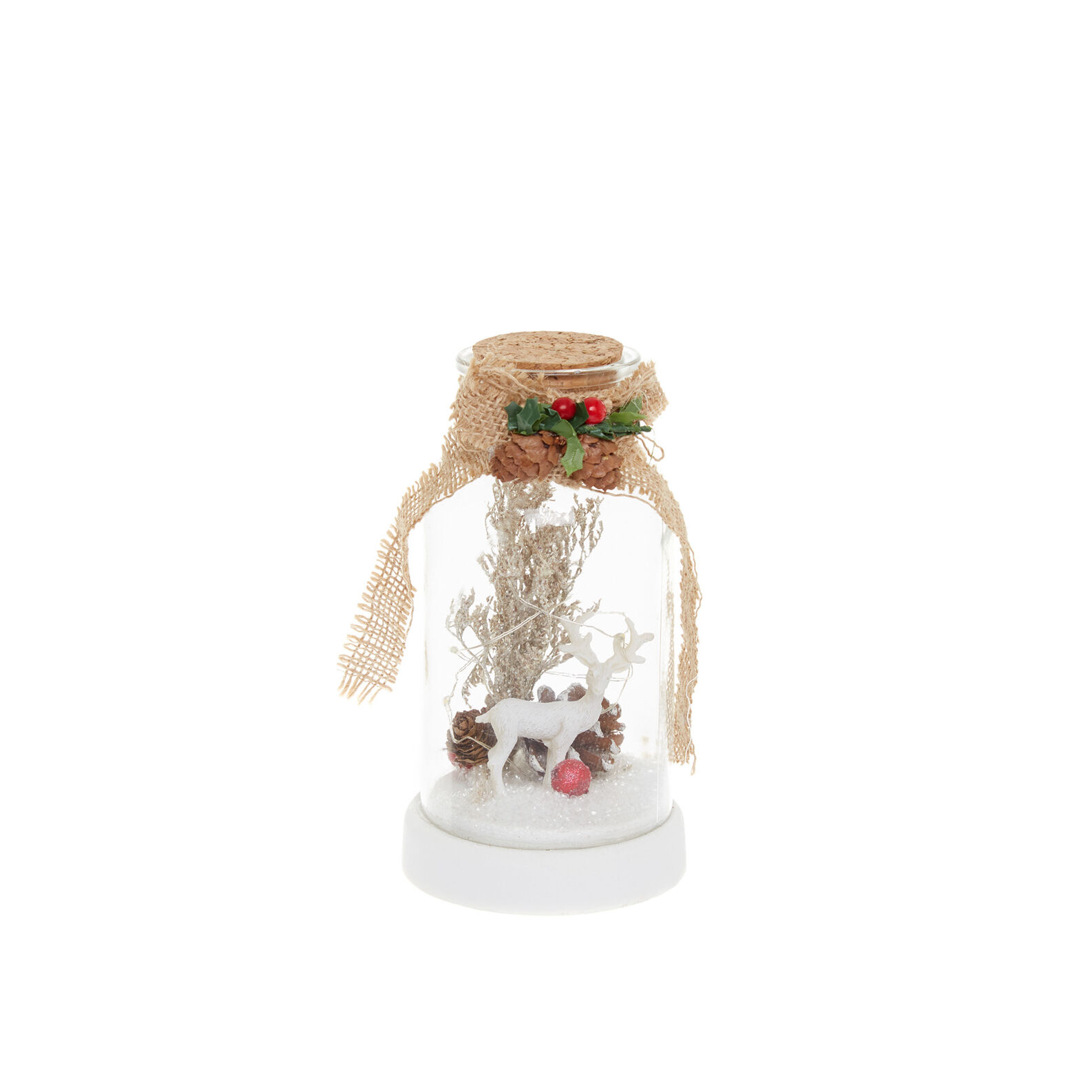 Bottle with LED reindeer