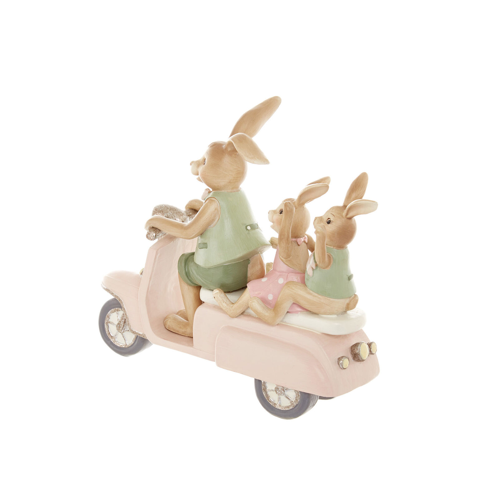 Hand-finished rabbits on Vespa