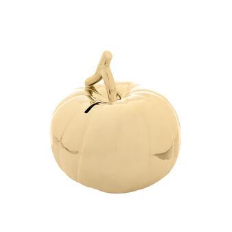 Ceramic pumpkin-shaped piggy bank