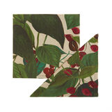 Set of 2 napkins in 100% cotton with coffee plant print