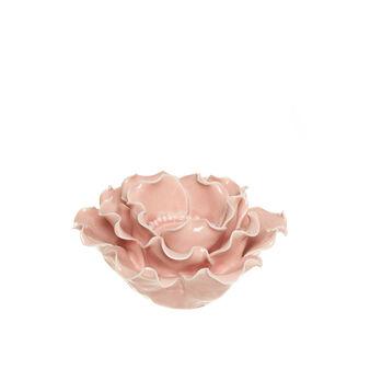 Flower-shaped candle holder in porcelain
