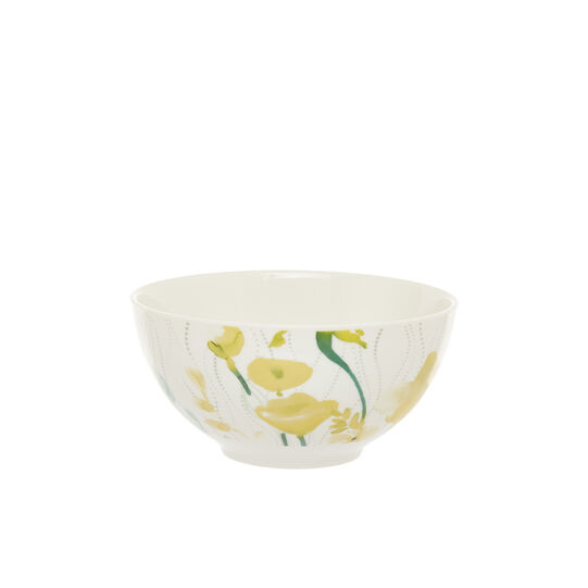 Small bowl in new bone China with yellow flowers