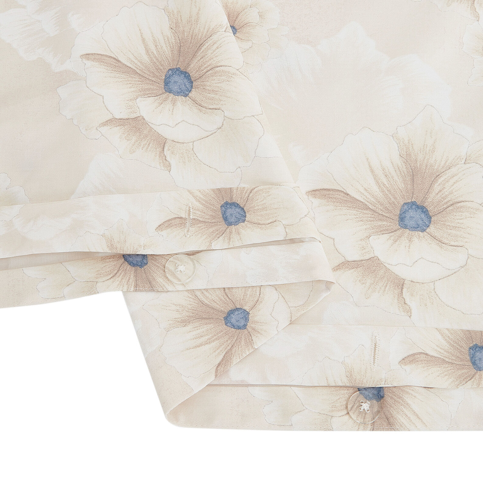 Cotton satin bed sheet set with flowers pattern