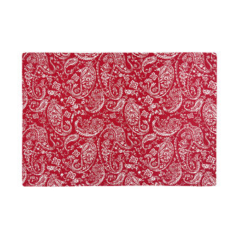 100% cotton table mat with paisley print