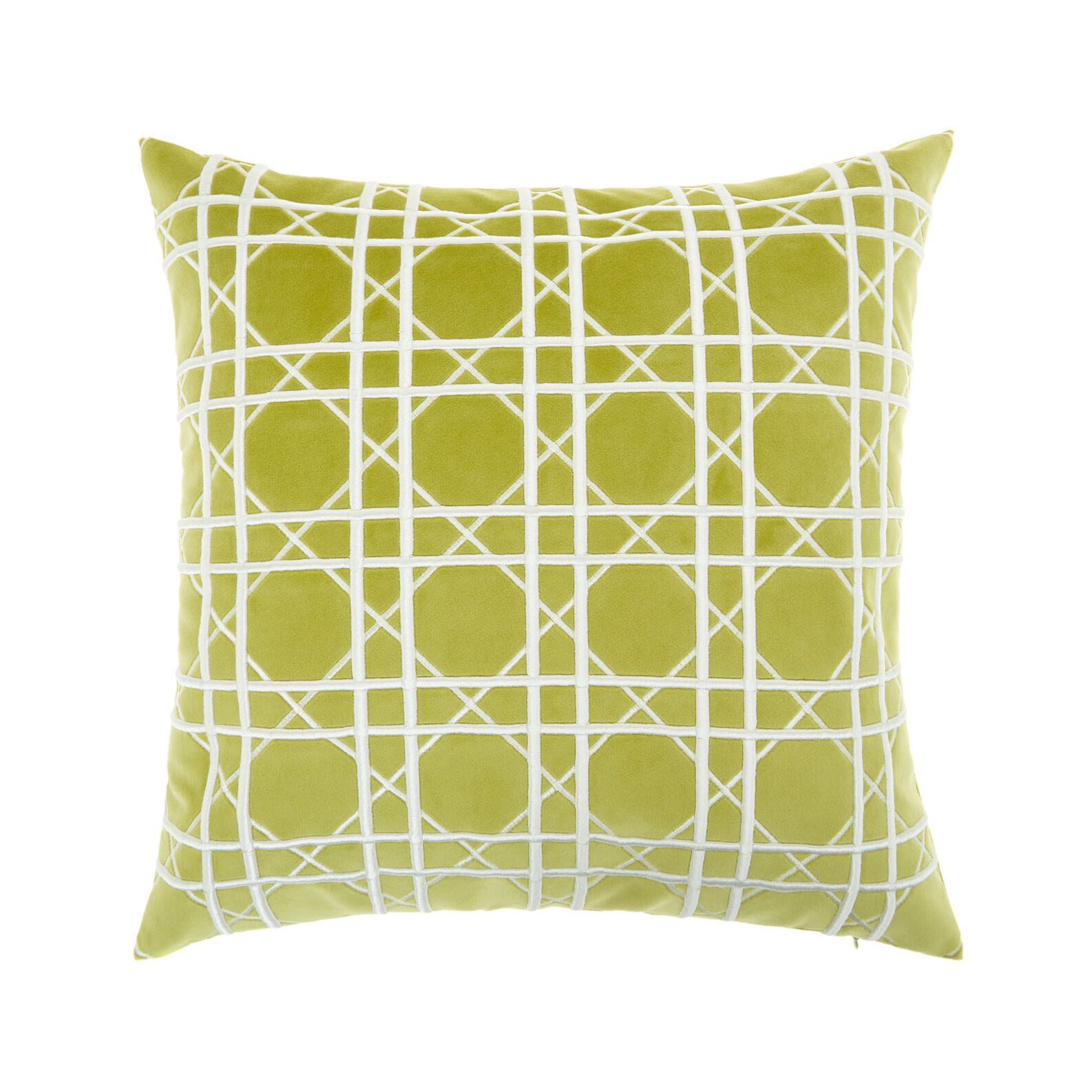 Cotton cushion with geometric embroidery (45x45cm)
