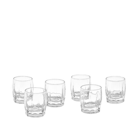 Set of 6 shot glasses in Dance glass