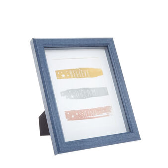 Coloured wood-effect photo frame