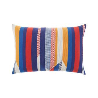 Cuscino motivo patchwork 35x55cm