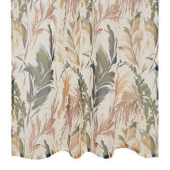Curtain with leaves motif and hidden loops