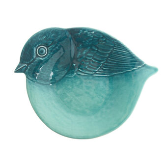 Ceramic bird-shaped serving dish