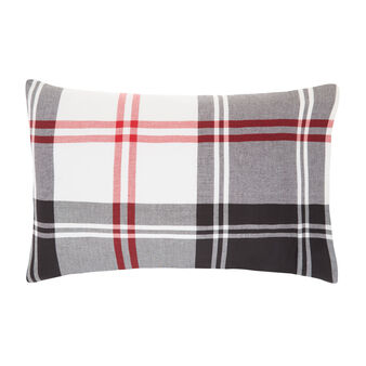 Tartan pillowcase in warm cotton