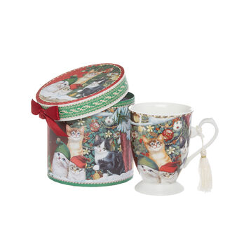 Mug new bone china motivo gattini