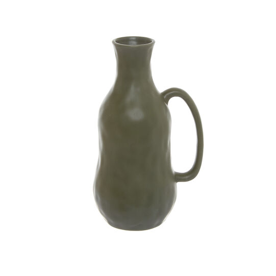 Handmade decorative ceramic bottle
