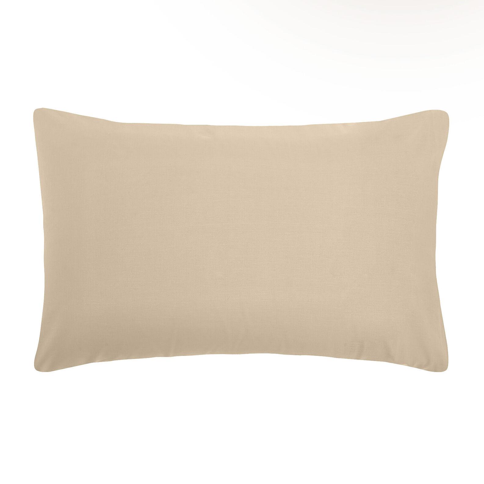 Solid color cotton pillowcase