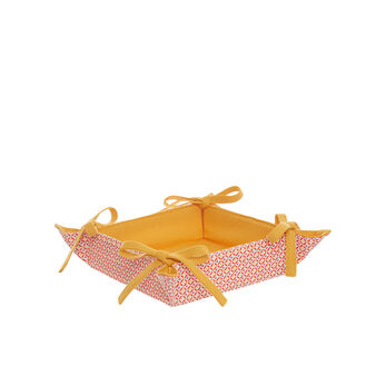 Square 100% cotton basket with diamonds print