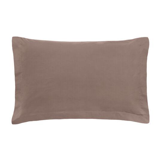 Zefiro solid colour pillowcase in percale.