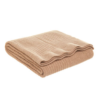 Portofino blanket in knitted lamb's wool blend