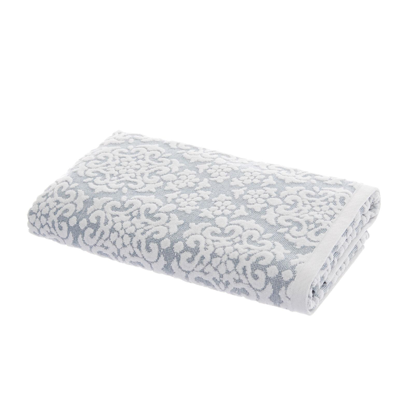 Asciugamano puro cotone fiori velluto