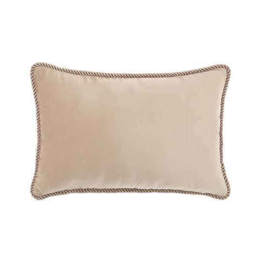 Solid colour velvet cushion 30x50cm