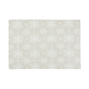 2-pack table mats in 100% cotton with snowflake print