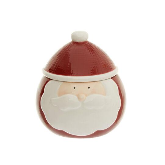 Santa Claus porcelain cookie jar