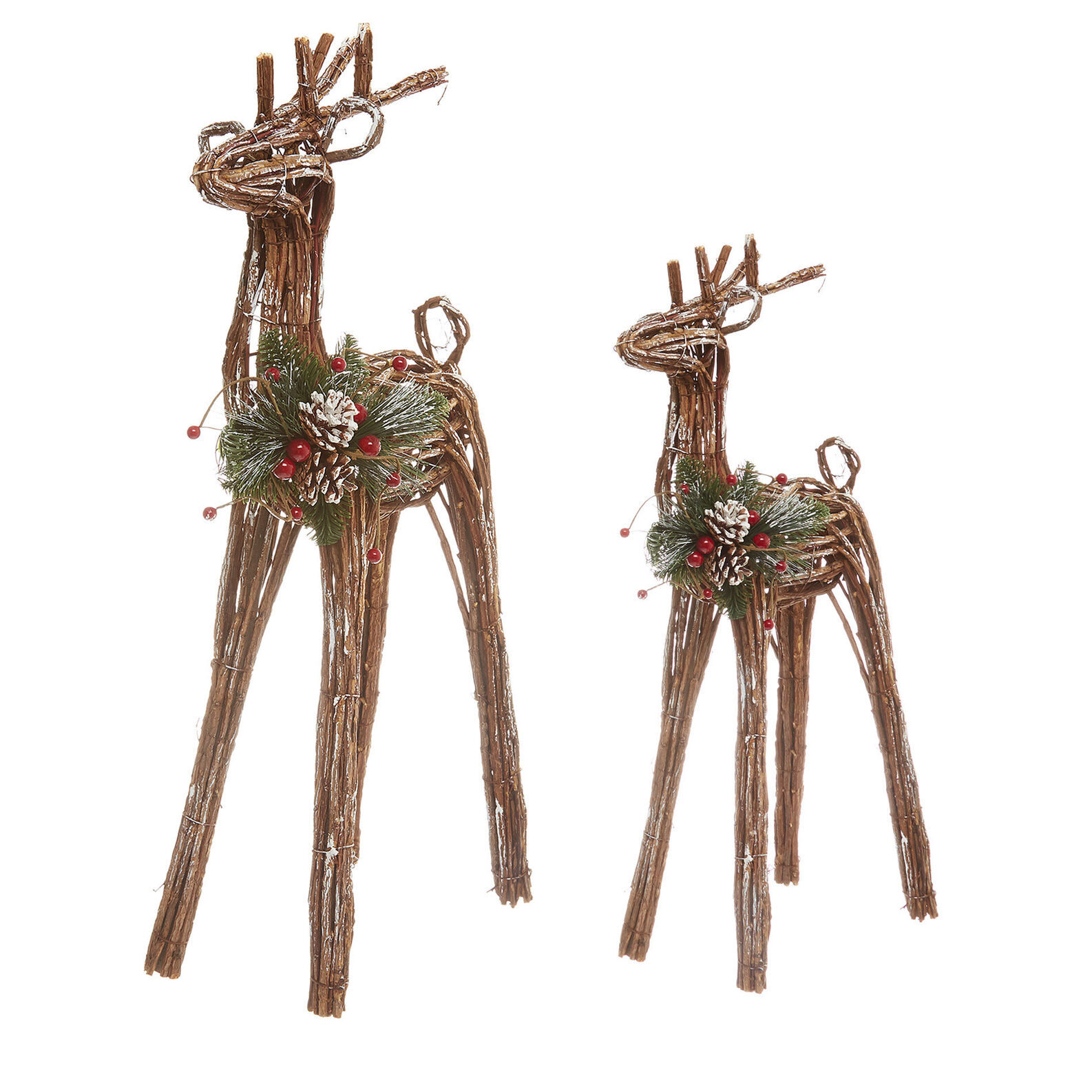 Hand-made decorative reindeer in vine wood