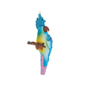 Addobbo pappagallo decorato a mano