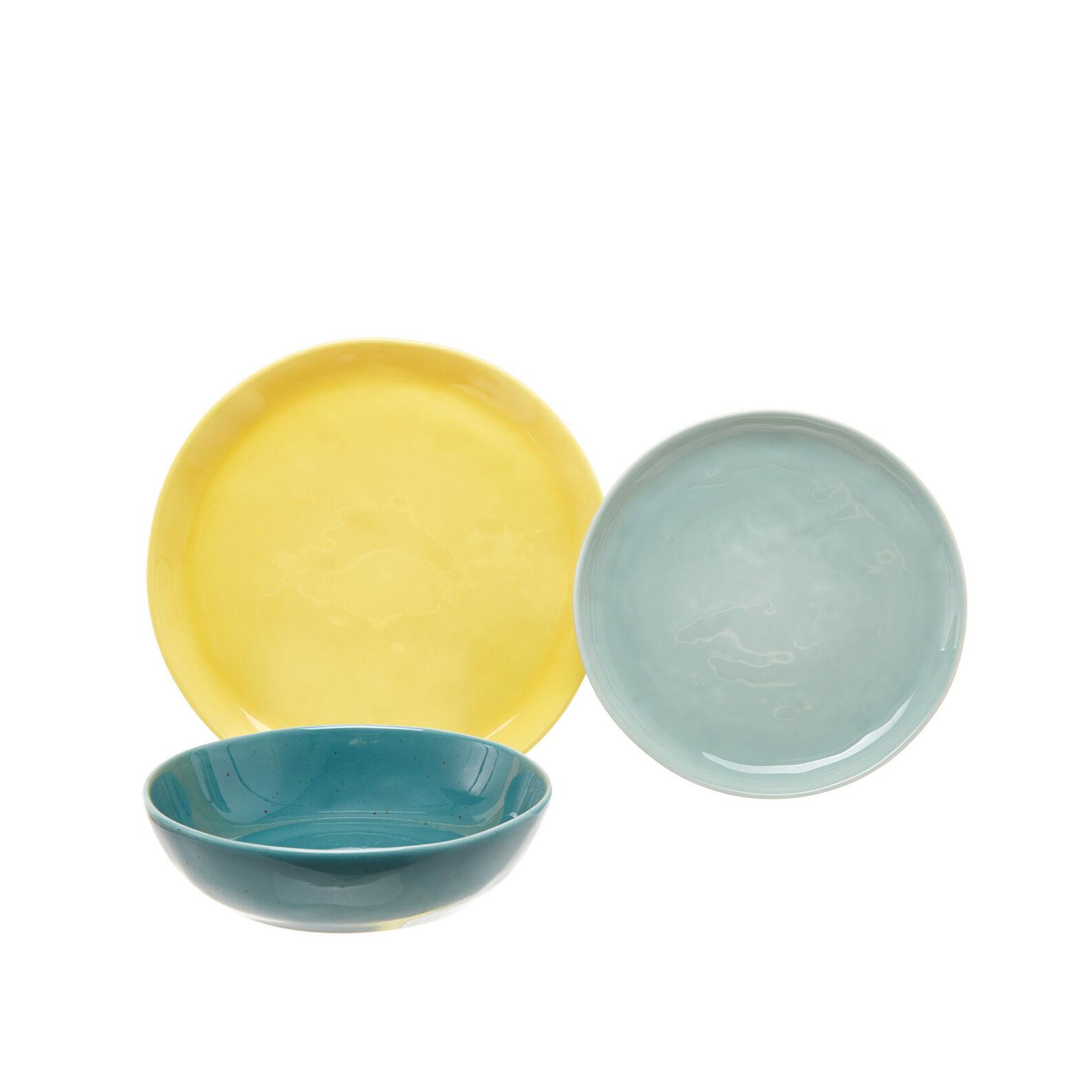 Set 18 pastel plates