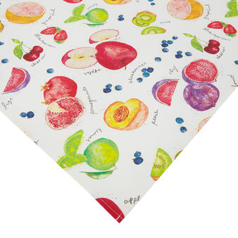 100% cotton twill centrepiece with fruit