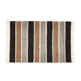 Striped kitchen mat in 100% cotton