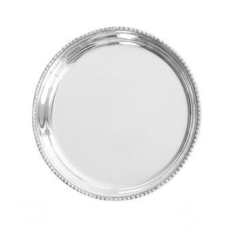 Silver-plated drinks coaster