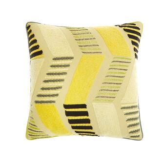 Cuscino cotone con ricami e perline 45x45cm