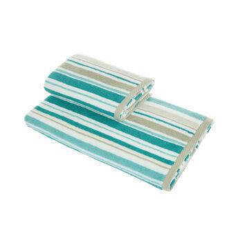 Asciugamano puro cotone a righe