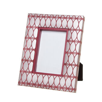 Handmade photo frame in recycled paper