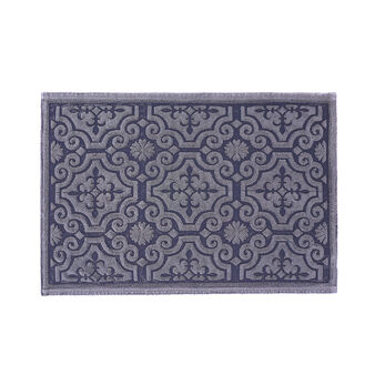 Bath mat in 100% cotton with jacquard design