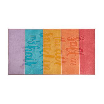 Striped cotton velor beach towel