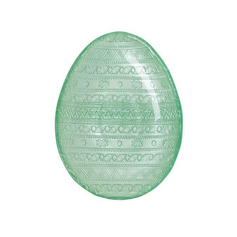 Egg-shaped glass plate