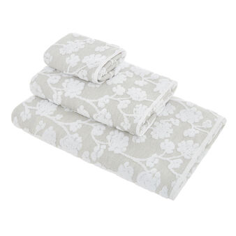 Thermae 100% cotton towel with flowers