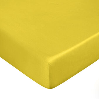 Solid colour fitted sheet in Tencel satin