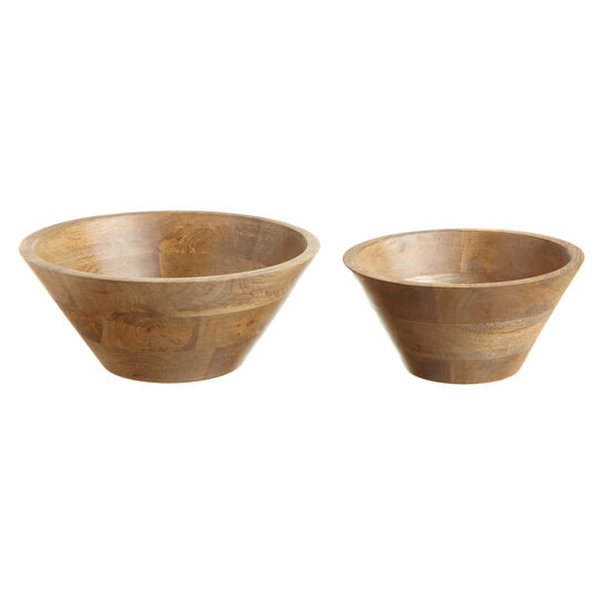 Wooden flared bowl