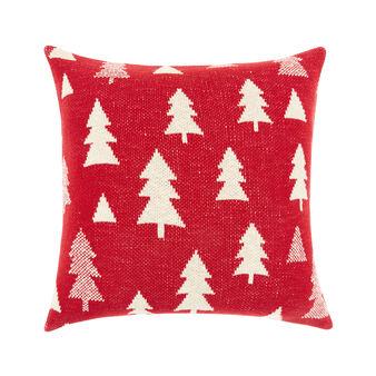 Cuscino maglia di cotone motivo natalizio 45x45cm