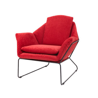Max armchair in fabric and steel