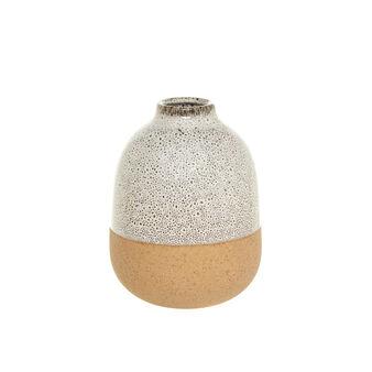 Two-tone enamel ceramic vase.