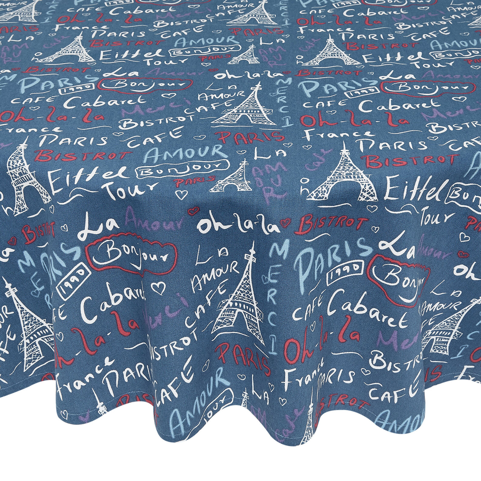100% cotton tablecloth with Paris print