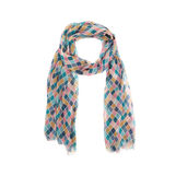 Geometric print viscose scarf